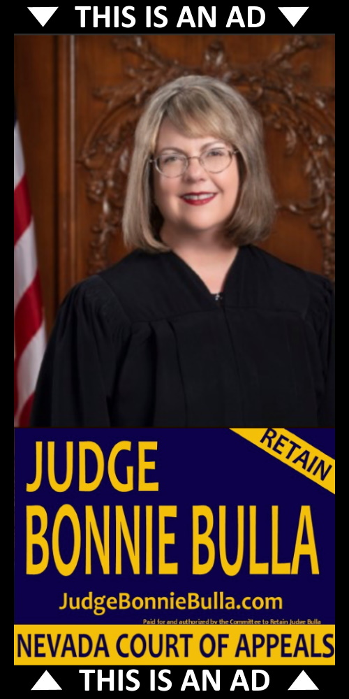 Re-Elect Judge Bonnie Bulla Department 3 of the Court of Appeals ad.